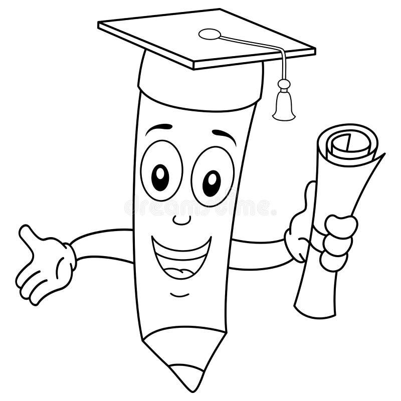 Barwić Szczęśliwego ołówek z skalowanie kapeluszem ilustracji