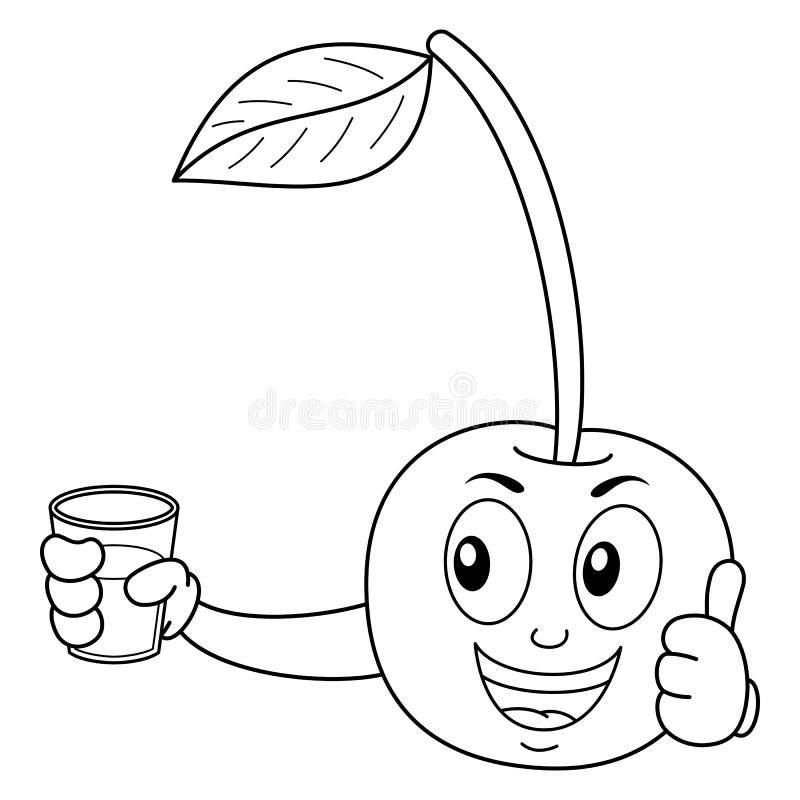 Barwić Szczęśliwej wiśni z Gniosącym sokiem ilustracja wektor