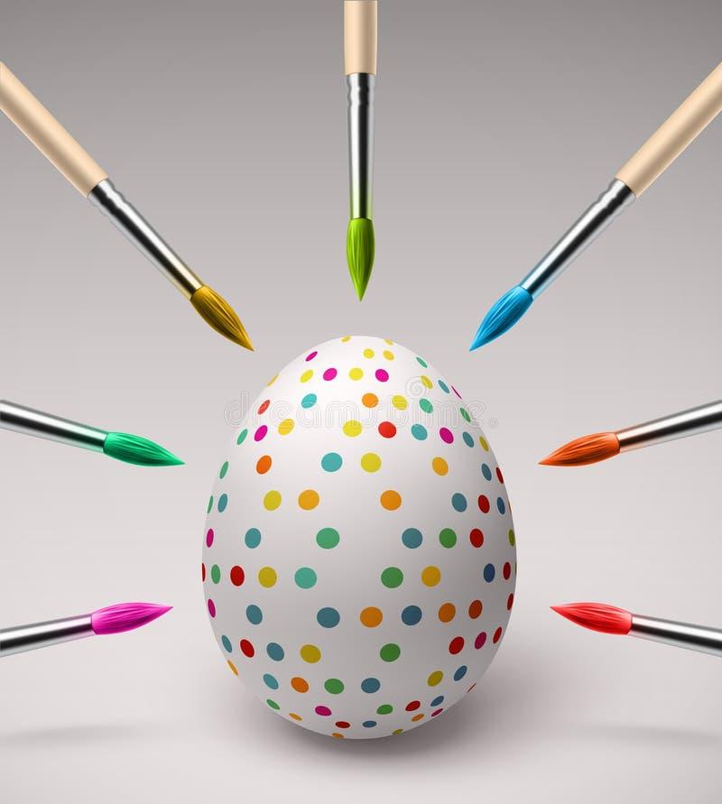 Barwić Wielkanocnych jajka ilustracja wektor