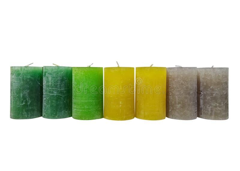 Barwić wosk świeczki odizolowywać na białym tle zdjęcia stock