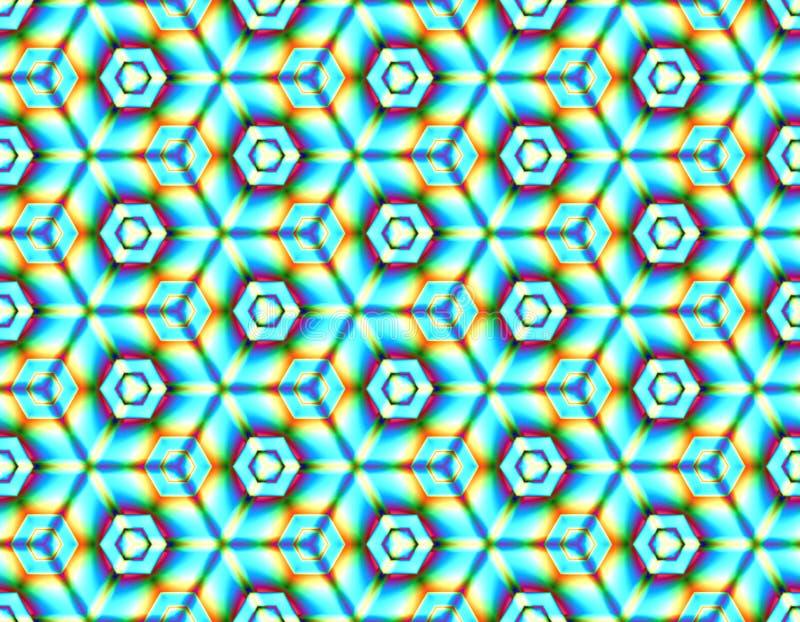Barwi bezszwowego obrazek geometrycznych elementów jaskrawi colours royalty ilustracja