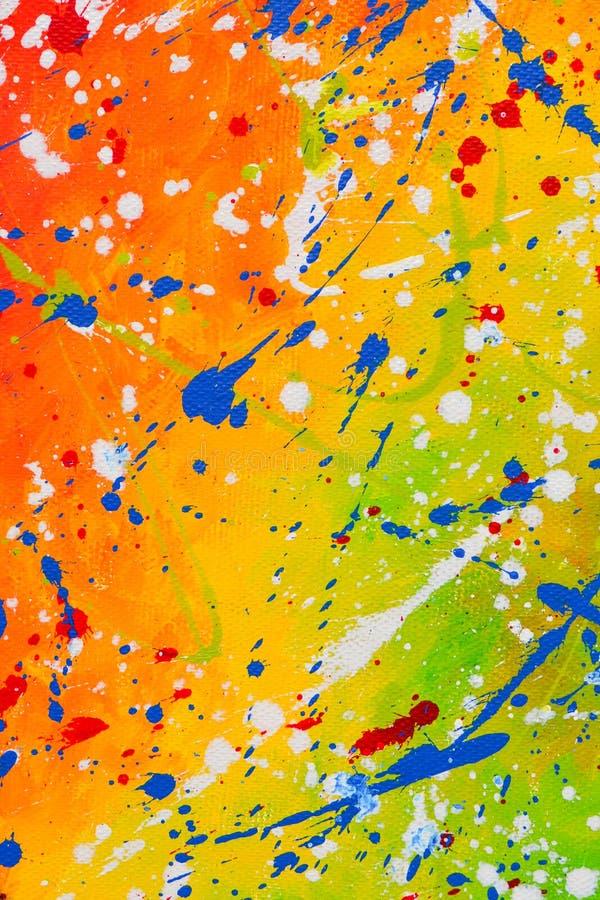 Barwi?cy kleksy, krople, rozmazy textural abstrakcyjne t?o kiedy by?o t?a mo?e poucza? tekstury marmurem u?y? Akrylowe farby zdjęcie royalty free