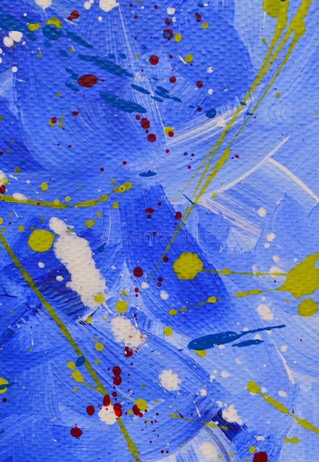 Barwi?cy kleksy, krople, rozmazy textural abstrakcyjne t?o kiedy by?o t?a mo?e poucza? tekstury marmurem u?y? Akrylowe farby zdjęcie stock