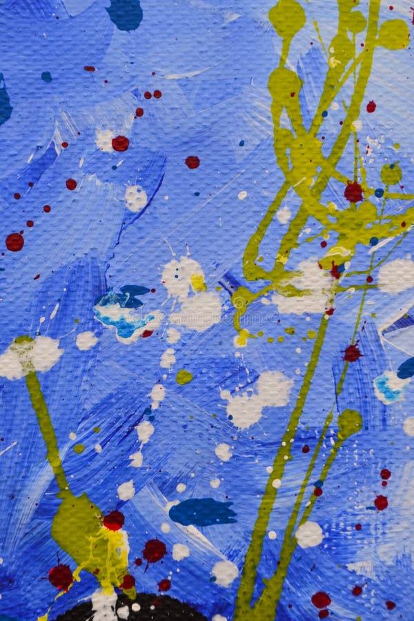Barwi?cy kleksy, krople, rozmazy textural abstrakcyjne t?o kiedy by?o t?a mo?e poucza? tekstury marmurem u?y? Akrylowe farby obrazy royalty free