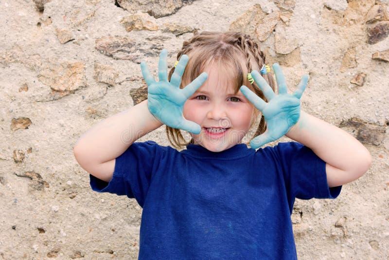 barwi dziewczyny bawić się mały zdjęcie royalty free