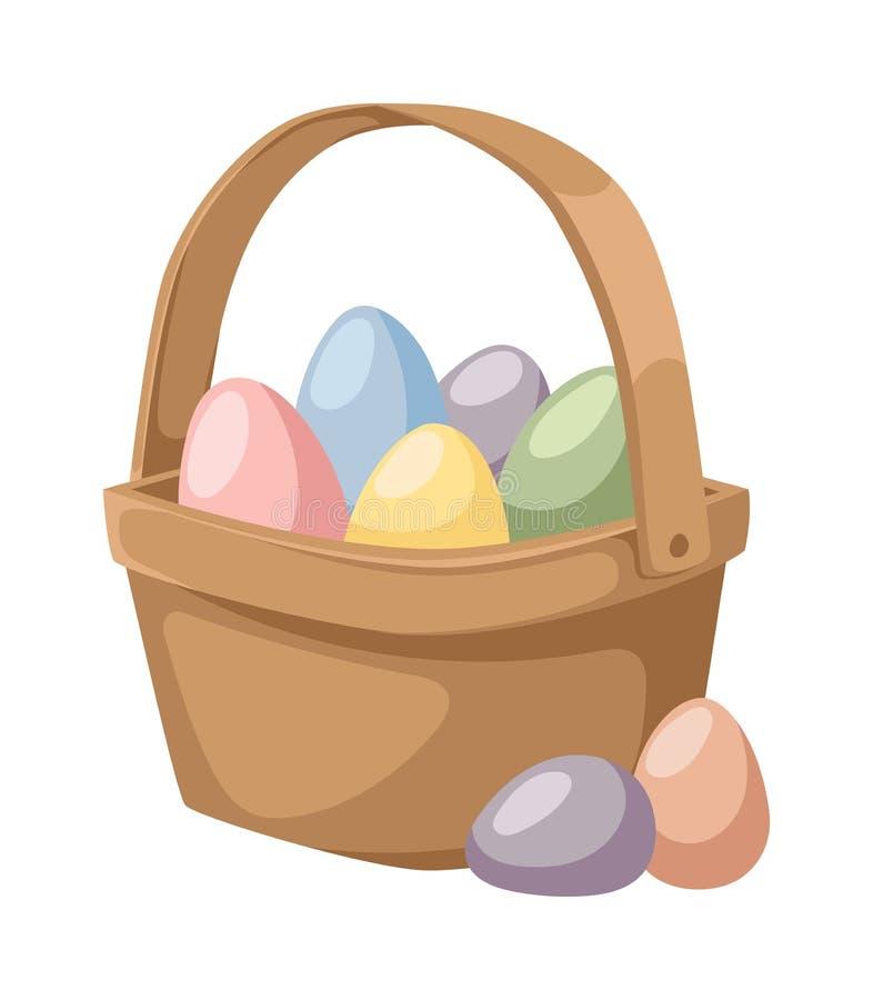 Barwi Easter jajka kreskówki wiosny jedzenia i dekoraci symbolu mieszkania ilustrację ilustracji