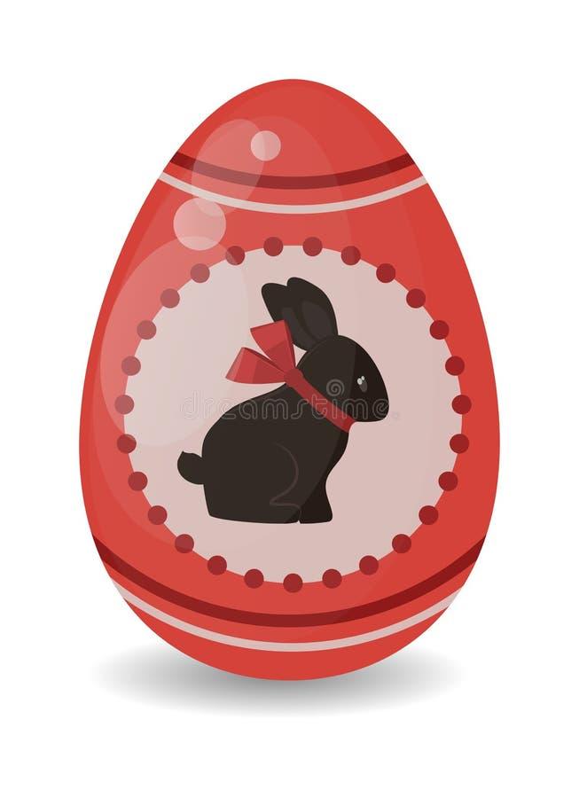 Barwi Easter jajka kreskówki wiosny jedzenia i dekoraci symbolu płaską wektorową ilustrację royalty ilustracja