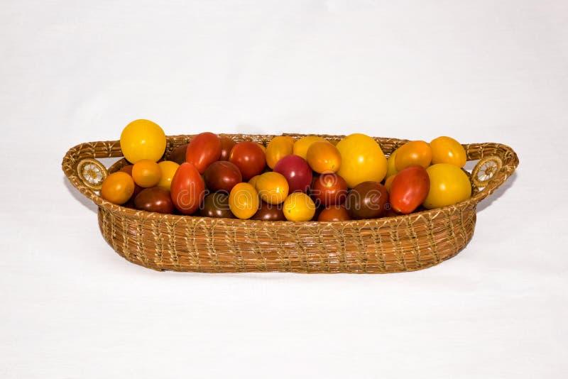 barwi heirloom czerwonego pomidorów kolor żółty obraz stock