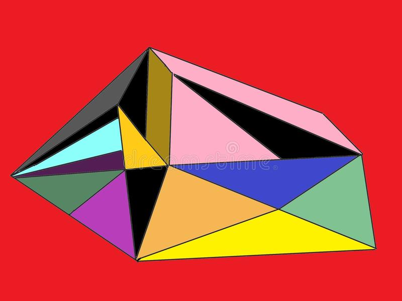 Barwi Ja z Unikalnym stylem ilustracja wektor