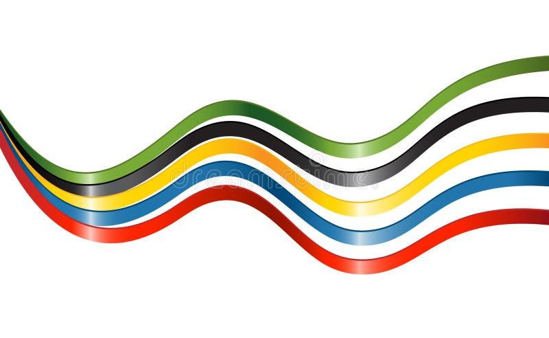 barwi kontynenty pięć faborków royalty ilustracja