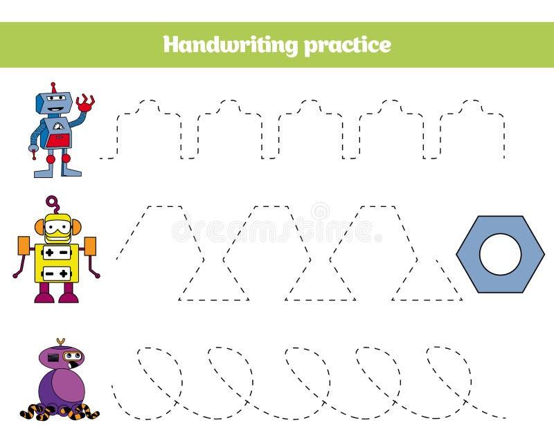 Barwi liczbą, edukaci gra dla dzieci Barwiący stronę, rysuje dzieciak aktywność Robota projekt ilustracja wektor
