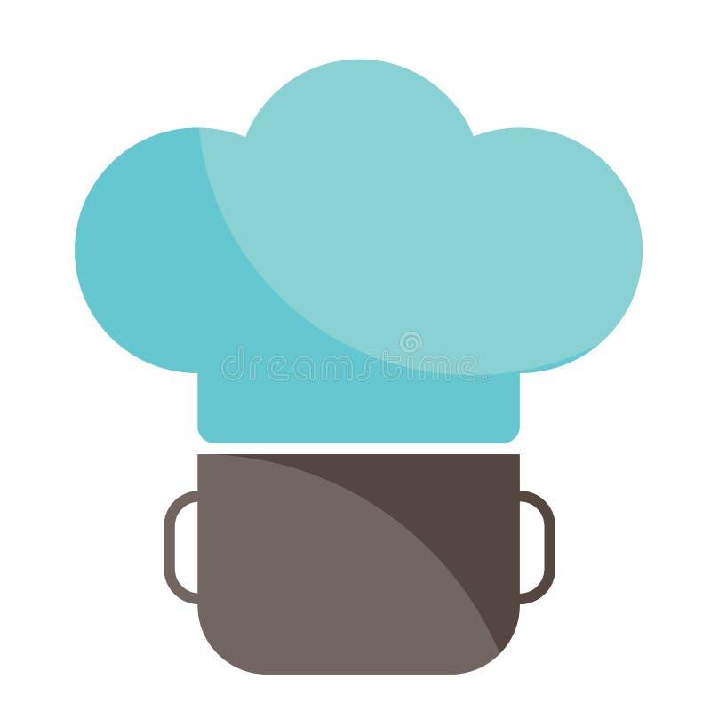 Barwi logo na temacie kucharstwo i catering royalty ilustracja