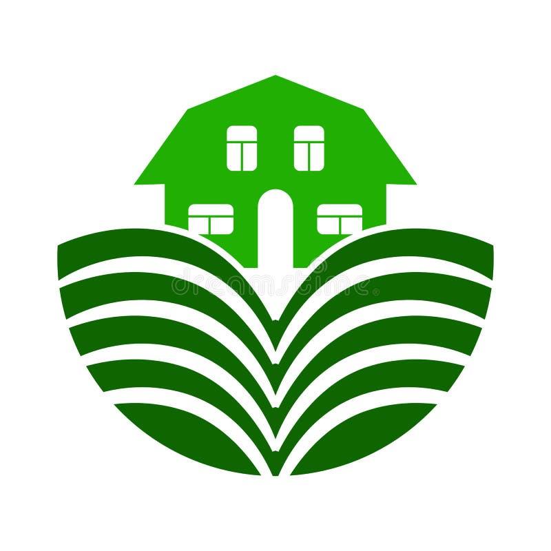 Barwi logo na temacie rolnictwo i uprawiać ziemię ilustracja wektor