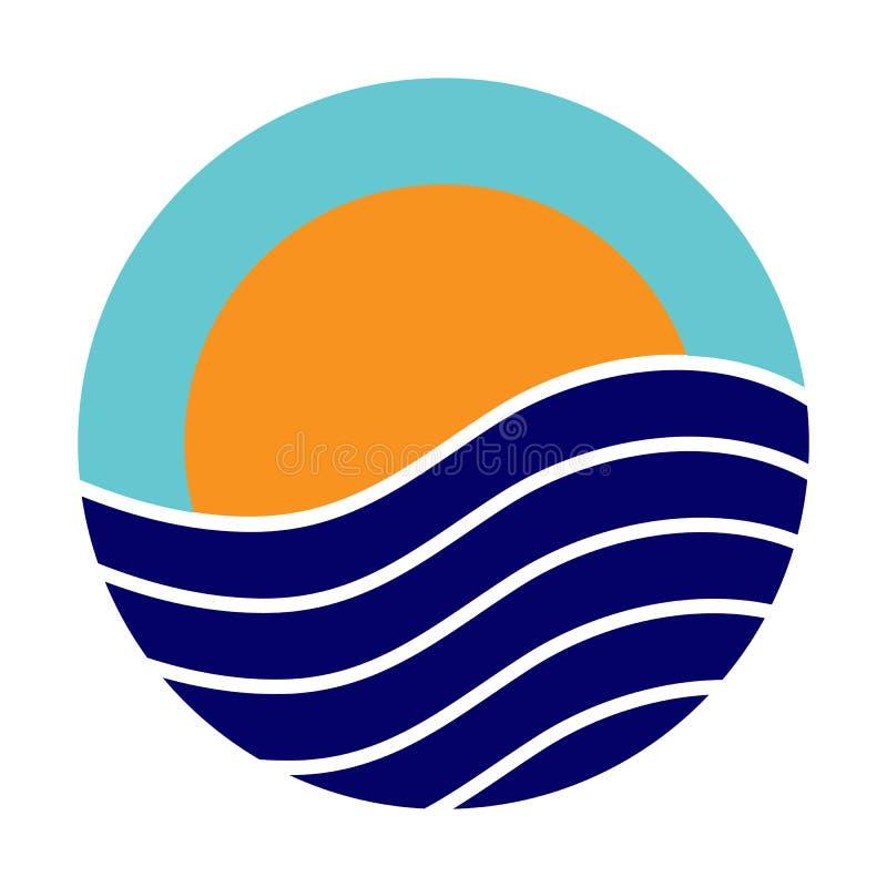Barwi logo na temacie turystyka i podróżuje ilustracja wektor