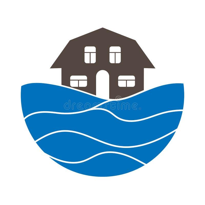 Barwi logo na temacie turystyka i podróżuje royalty ilustracja