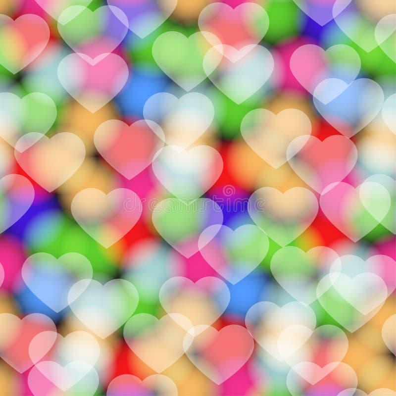 Barwi serce bezszwowego wzór ilustracji
