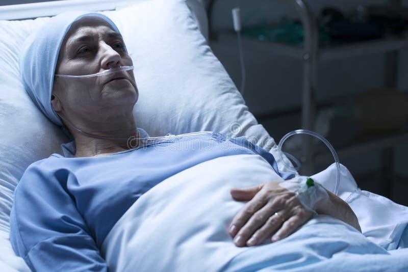 Barwiarska kobieta w szpitalu zdjęcie stock