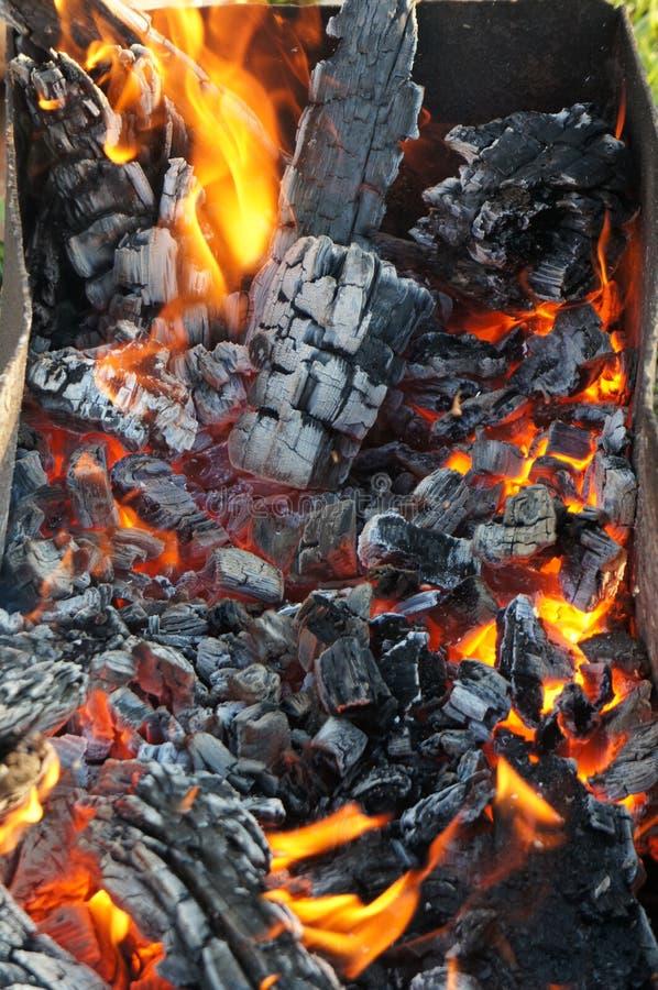 barwiarski ogień obraz stock