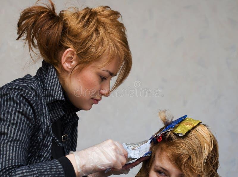 barwiarski włosiany stylista zdjęcia royalty free