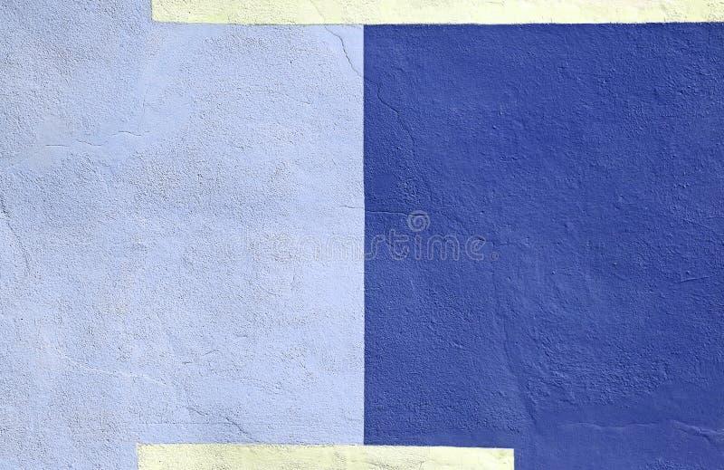 Barwiona ściana barwiący błękitny farby tło obraz royalty free