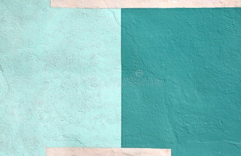 Barwiona ściana barwiący zielony farby tło fotografia stock