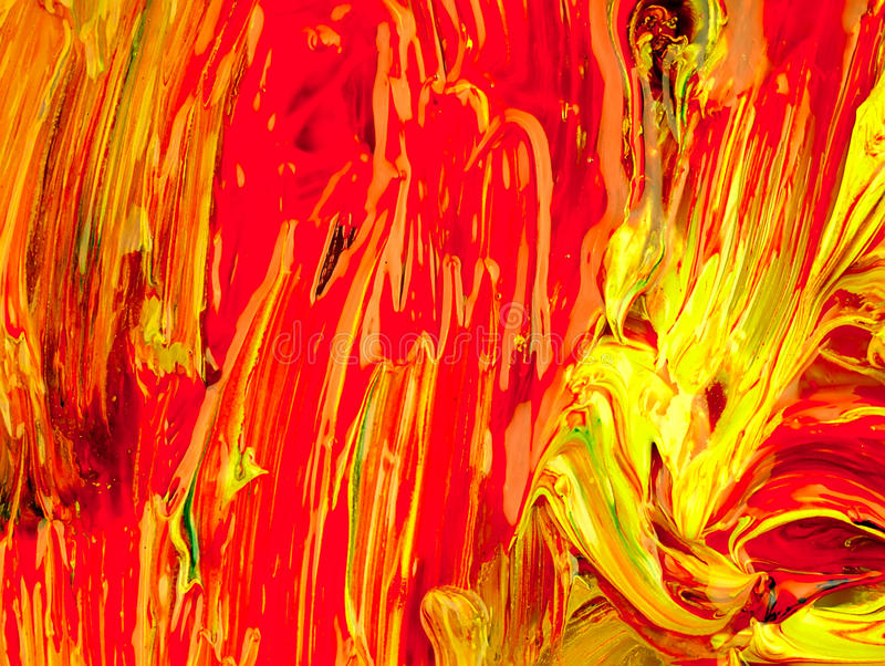 Barwiona farba mieszająca na palecie obraz royalty free
