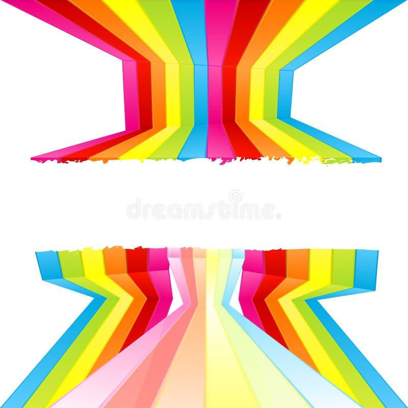 barwiona grunge farby pasków do ściany ilustracja wektor