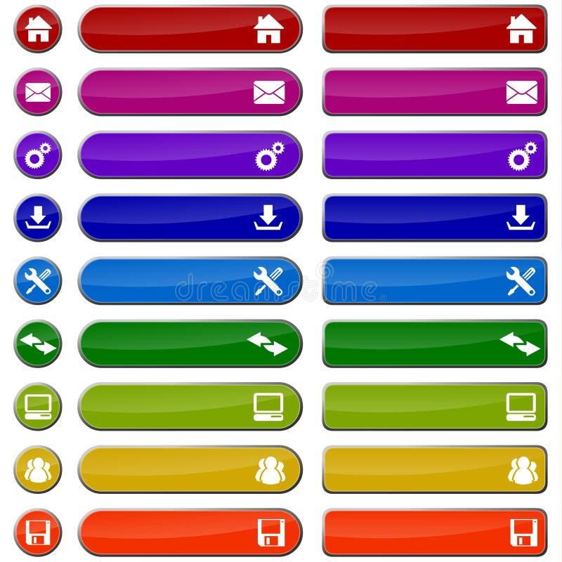 barwiona guzik sieć ilustracji