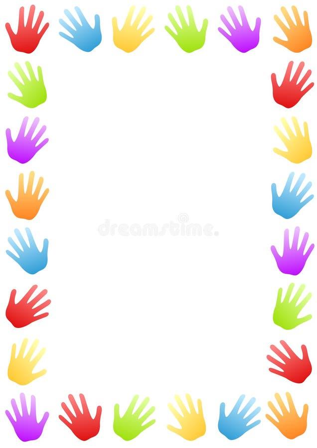 Barwiona ręki granicy rama royalty ilustracja