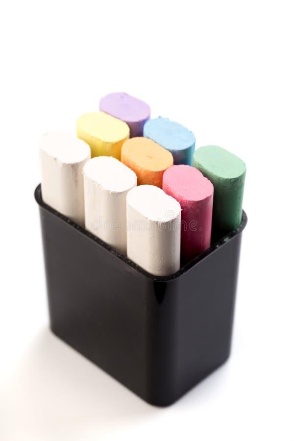 Barwiona kreda dla rysować na białym tle - wizerunek obrazy royalty free
