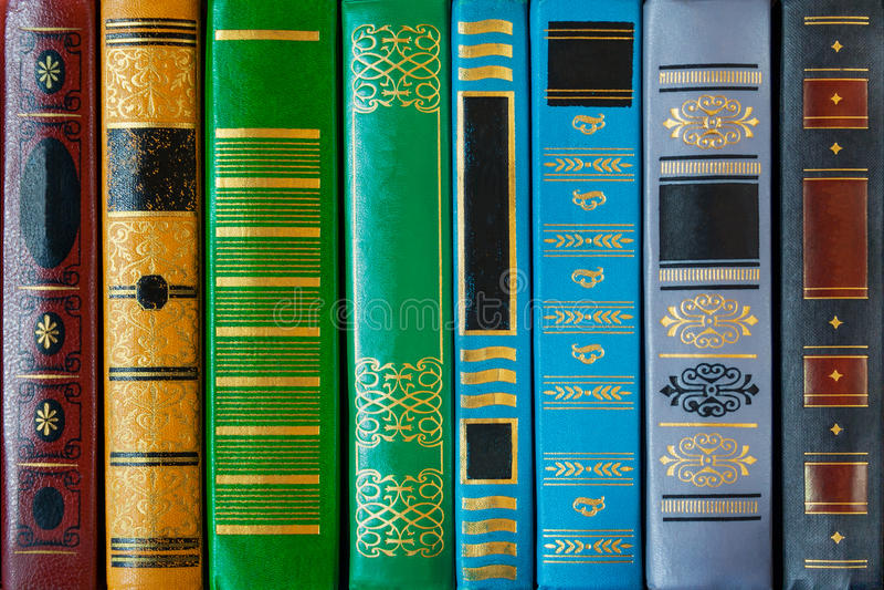 Barwiona książki pokrywa z wzorami zbliżenie, tekstura, tło zdjęcie royalty free