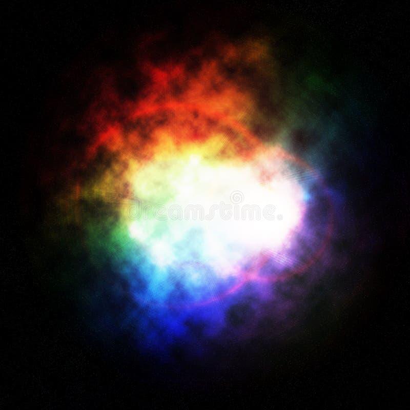 barwiona mgławica ilustracja wektor