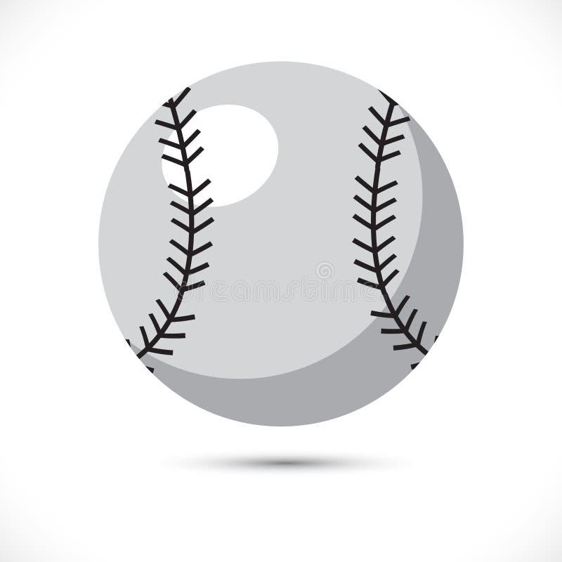 Barwiona miękka balowa wektorowa ilustracja Sport miękka balowa wektorowa sztuka na bielu backgroundColored softballa sporta wekt royalty ilustracja