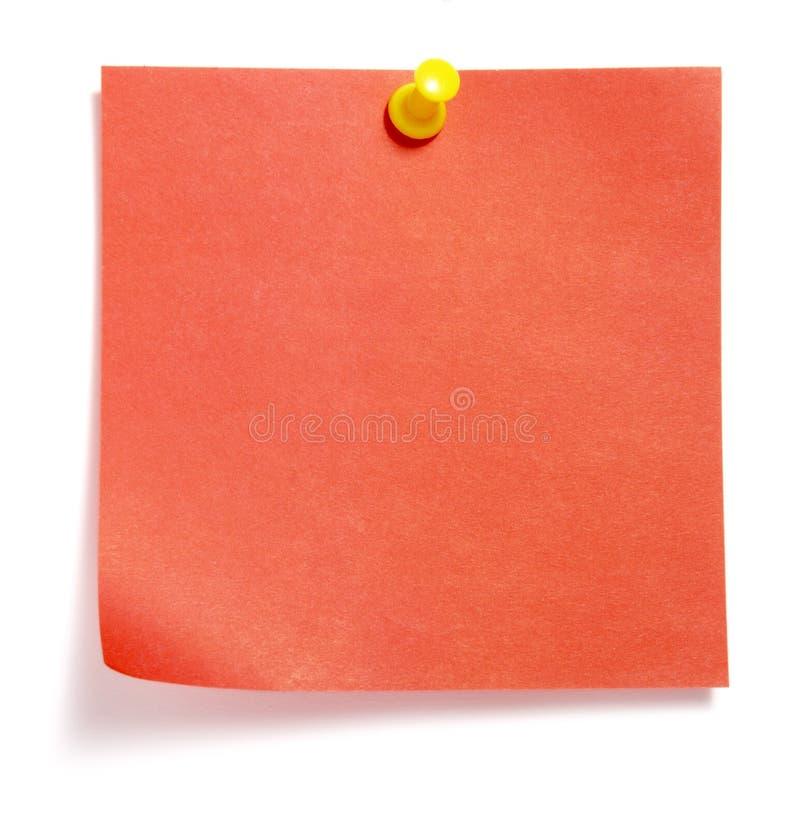 barwiona notatka obrazy stock