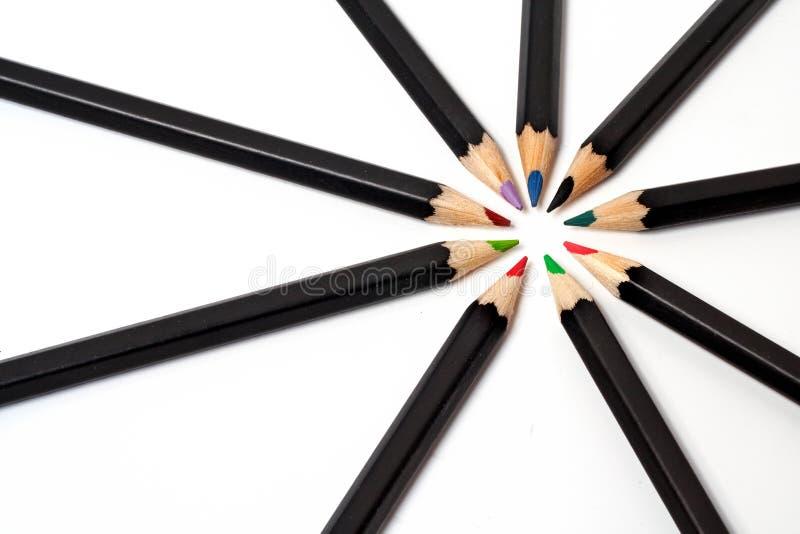 barwiona ołówek do szkoły obrazy stock