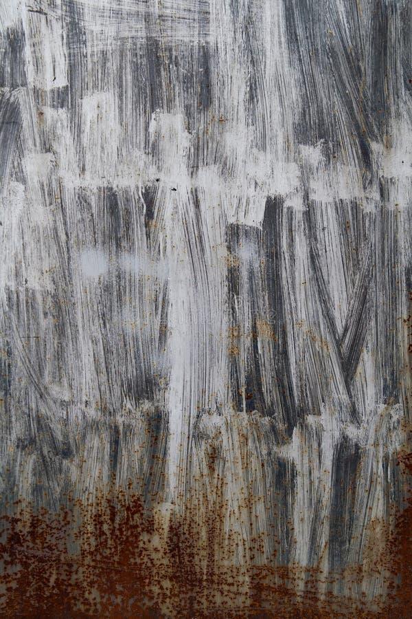 Barwiona ośniedziała żelazo ściana fotografia royalty free