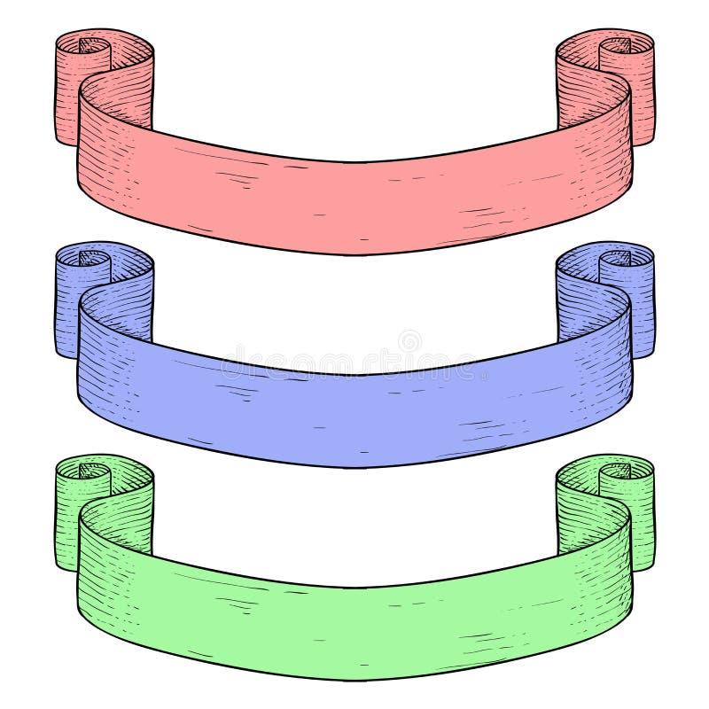 Barwiona papierowa ślimacznica ilustracji