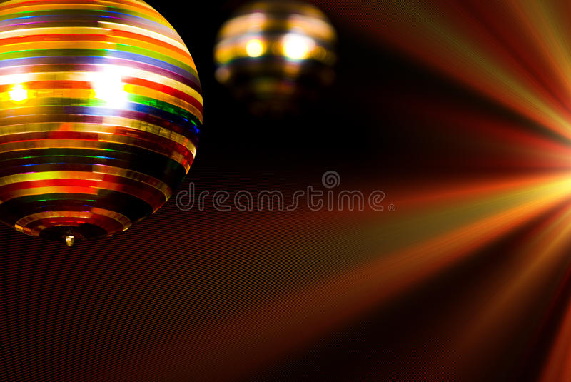barwiona piłki dyskoteka obraz stock