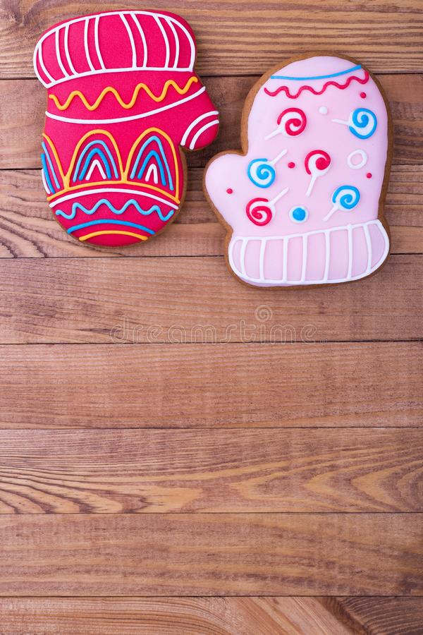 Barwiona słodkość na drewnianym tle obrazy royalty free