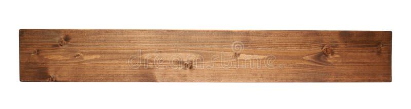 Barwiona sosnowego drewna deski deska odizolowywająca fotografia royalty free