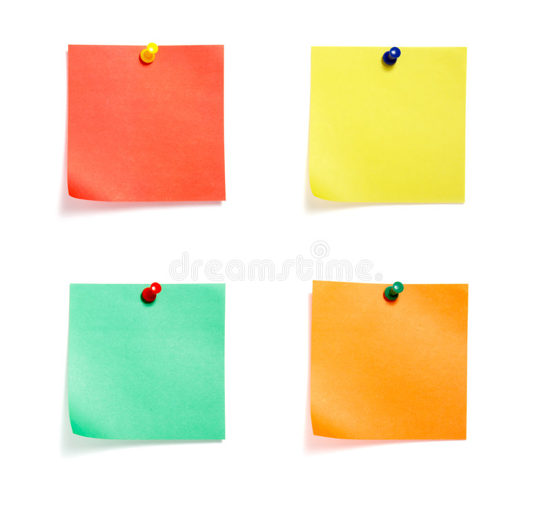 barwione grupowe notatki zdjęcia stock