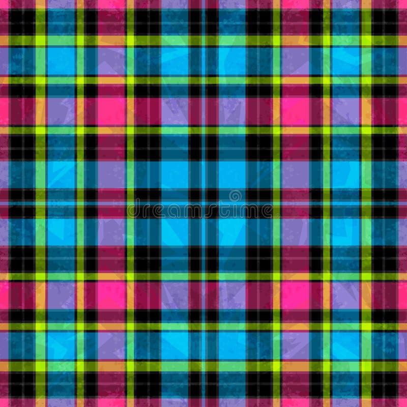 Barwione jaskrawe linie tło geometrycznego abstrakcyjne Grunge skutek royalty ilustracja
