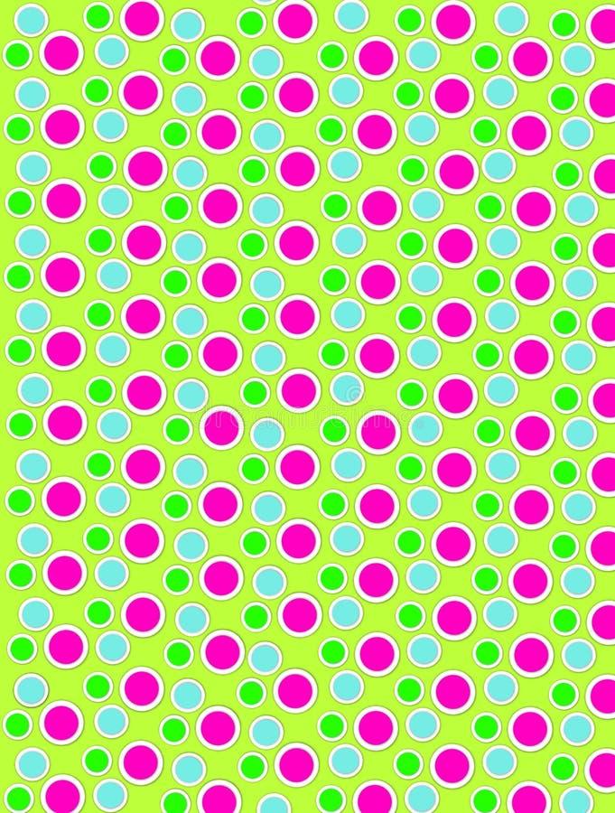 Barwione kropki na Białej kropki wapna zieleni royalty ilustracja