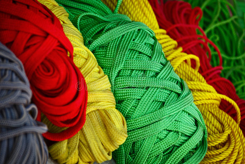 Barwione nici zdjęcie stock