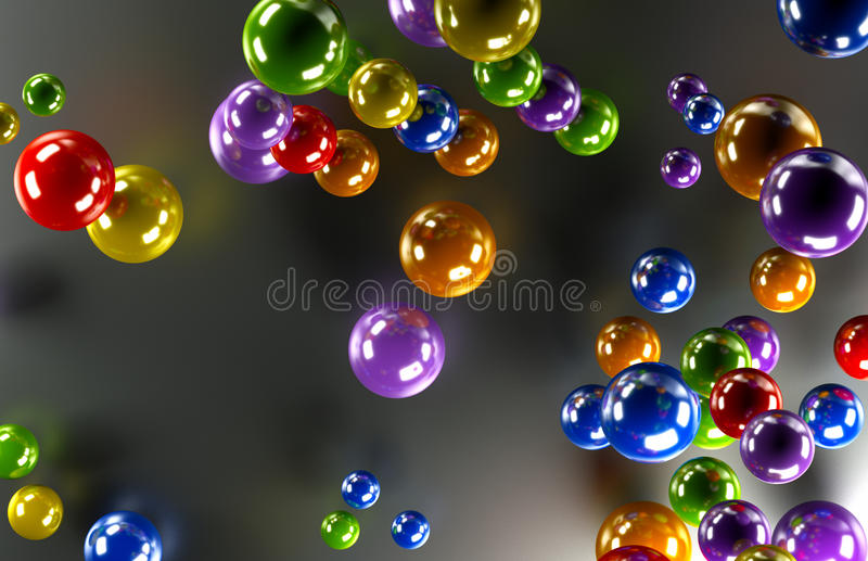 Barwione piłki royalty ilustracja