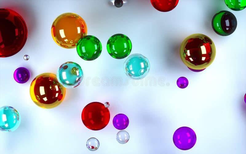 Barwione piłki ilustracja wektor