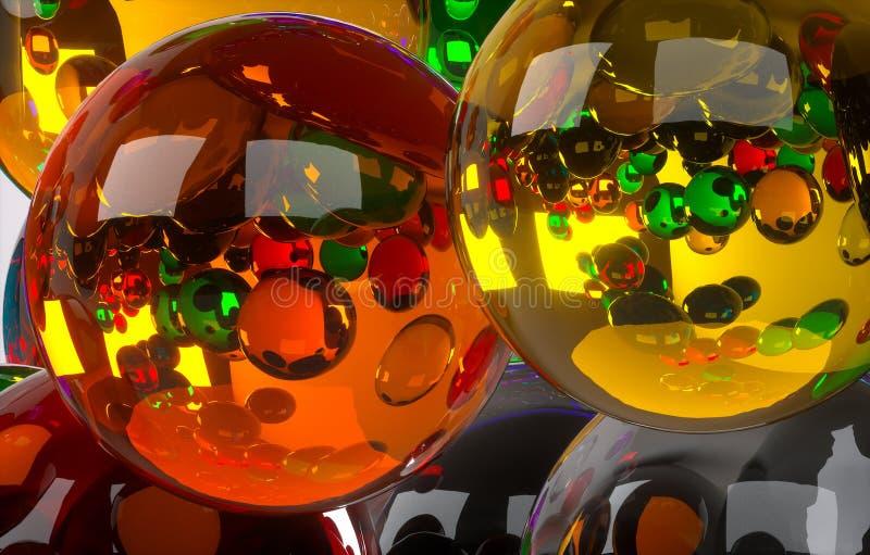 Barwione piłki ilustracji