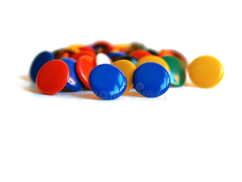 barwione rysunkowe szpilki obraz stock