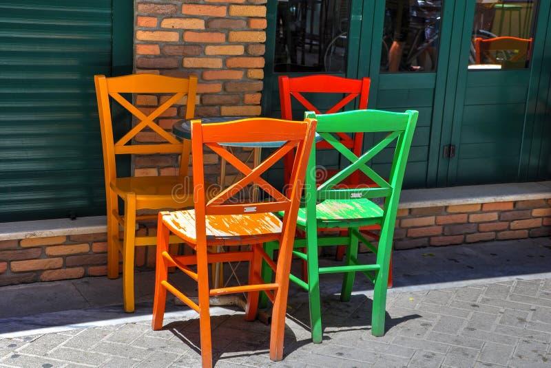 Barwione stolec fotografia stock