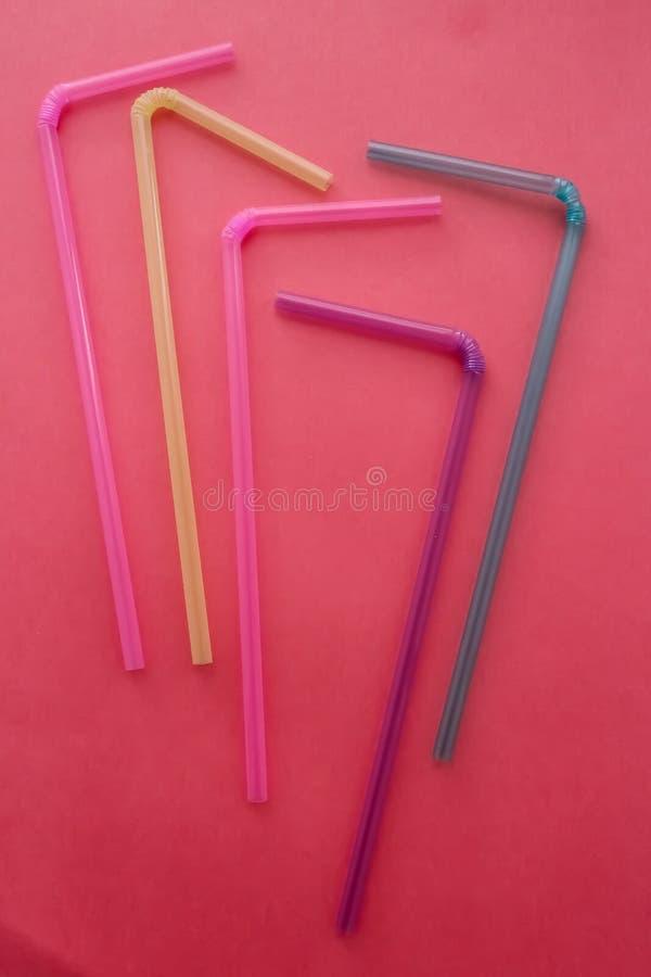 Barwione tubki dla napojów obraz stock